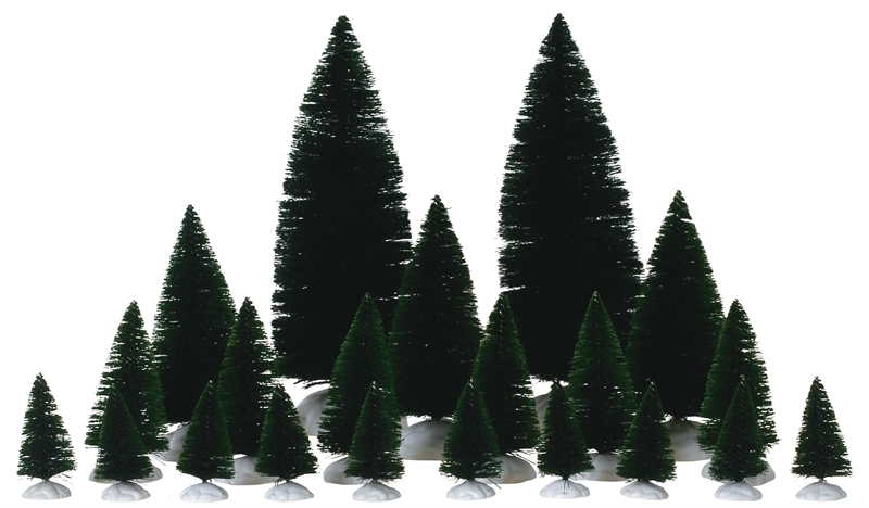 12-pc Assorted Fir Trees Lemax Village