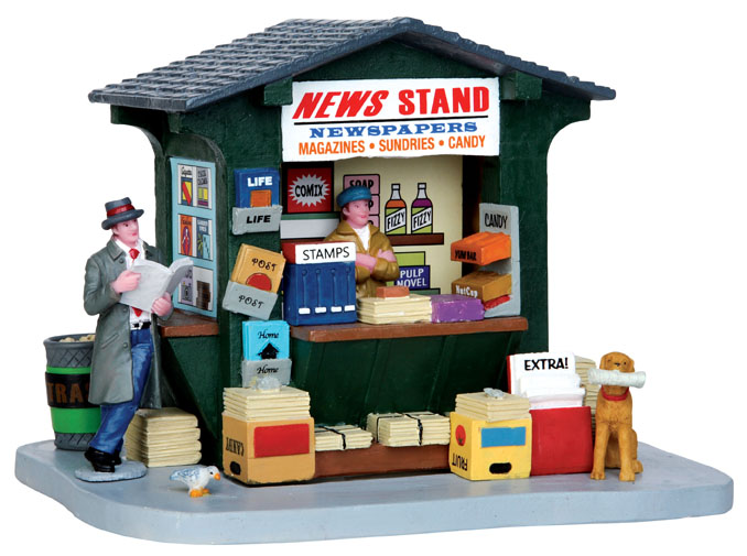 1950's News Stand Lemax Village