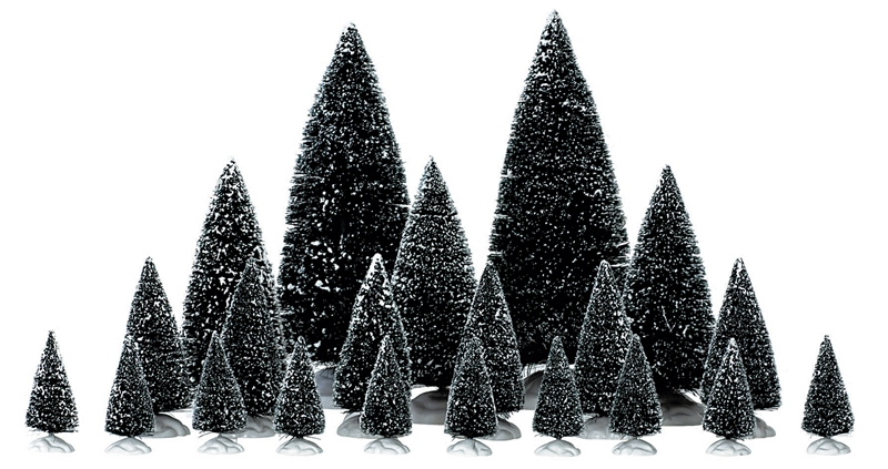 21 Pc Assorted Pine Trees Lemax Village