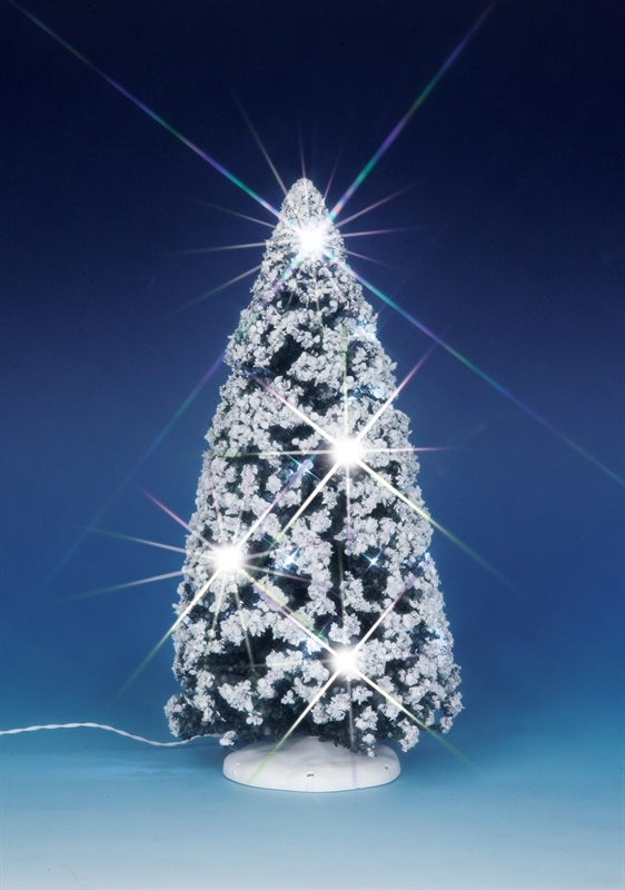 9 In.sparkling Winter Tree Lemax Village