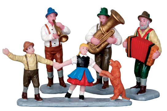 Alpine Musicians  Set Of 4 Lemax Village