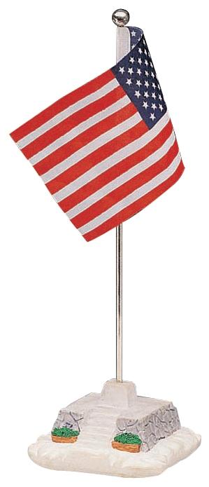 American Flag Pole Lemax Village