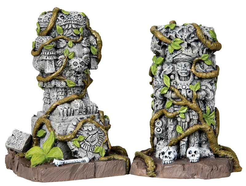 Ancient Statues, Set Of 2 Lemax Village