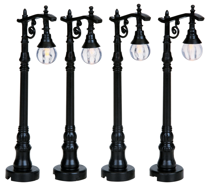 Antique Street Lamp, Set Of 4 Lemax Village