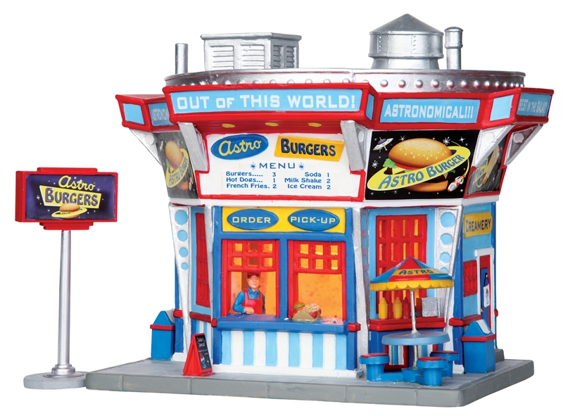 Astro Burgers, Set Of 2 Lemax Village