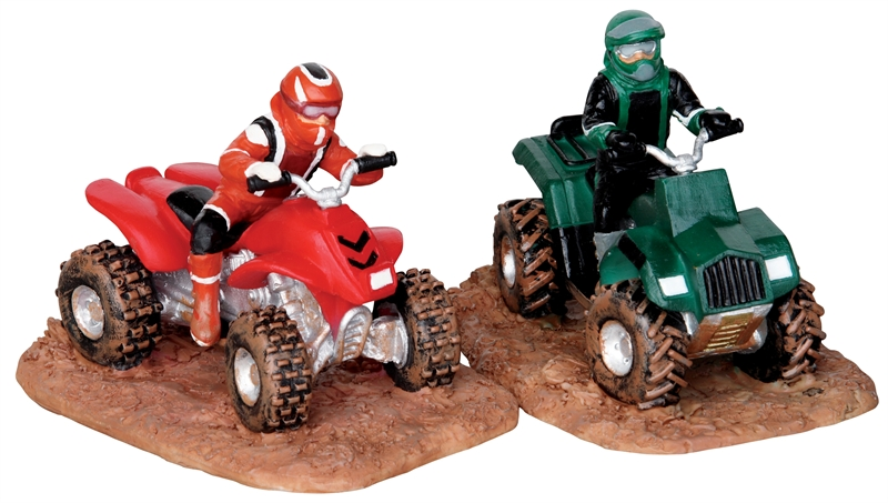 Atv Action, Set Of 2 Lemax Village