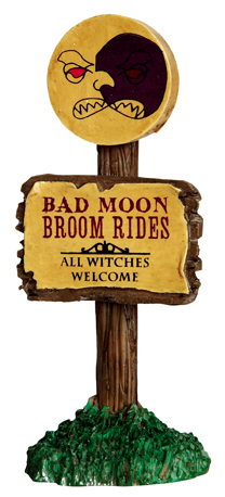 Bad Moon Broom Rides Lemax Village