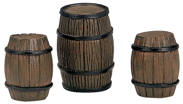 Barrels, Set Of 3 Lemax Village