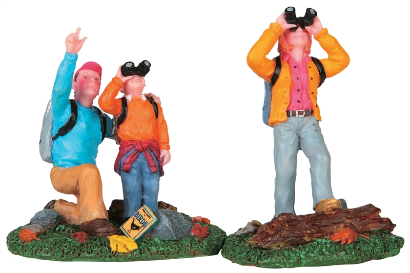 Bird Watching Family, Set Of 2 Lemax Village