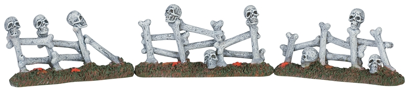 Bone Fence, Set Of 3 Lemax Village