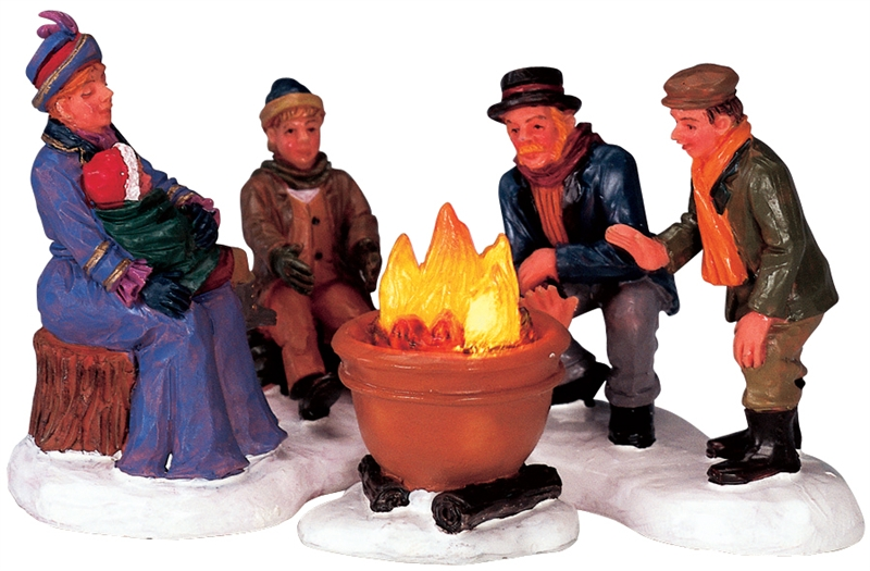 Bonfire, Set Of 3 Lemax Village