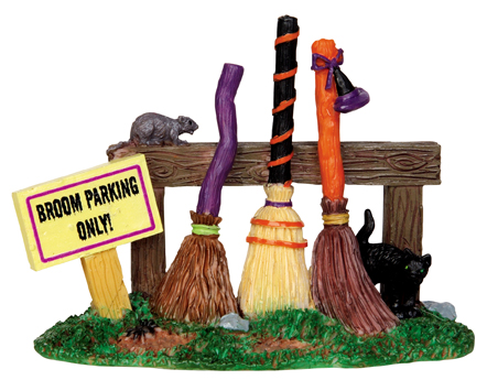 Broom Parking Rack Lemax Village