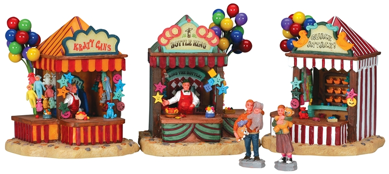 Carnival Kiosks, Set Of 5 Lemax Village