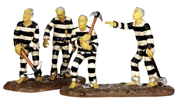 Chain Gang, Set Of 2 Lemax Village