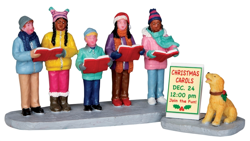 Christmas Carolers, Set Of 2 Lemax Village