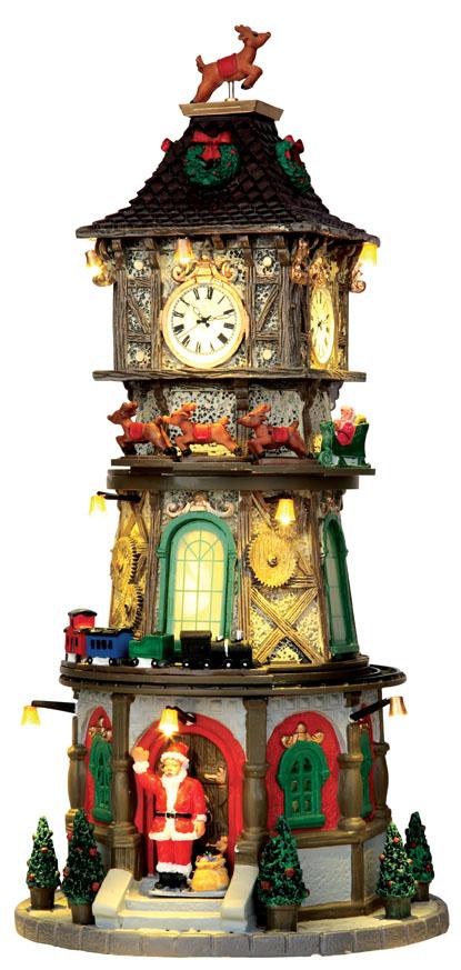 Christmas Clock Tower Lemax Village