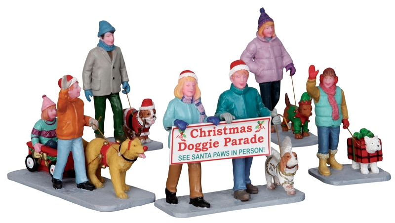 Christmas Doggie Parade, Set Of 5 Lemax Village