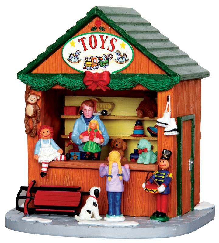 Christmas Market Scene Toys Lemax Village