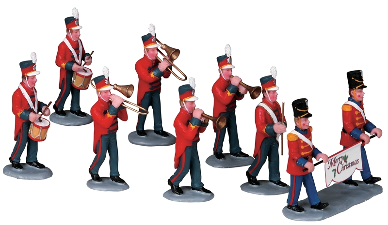 Christmas Parade Marching Band, Set Of 8 Lemax Village