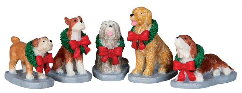 Christmas Pooch, Set Of 5 Lemax Village