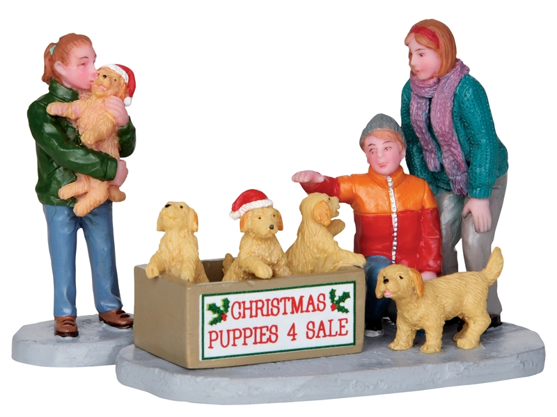 Christmas Puppies, Set Of 2 Lemax Village