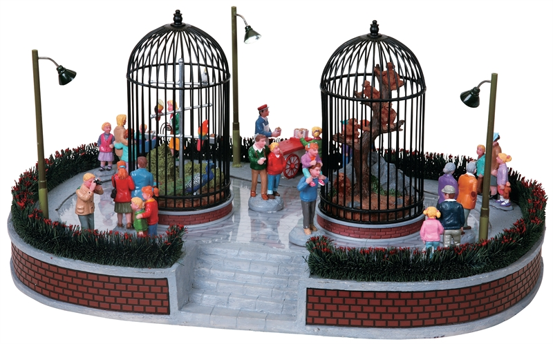 City Zoo Visitors, Set Of 7 Lemax Village