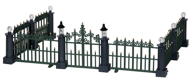 Classic Victorian Fence, Set Of 7 Lemax Village
