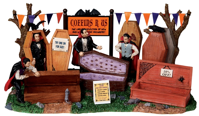 Coffins R Us Lemax Village