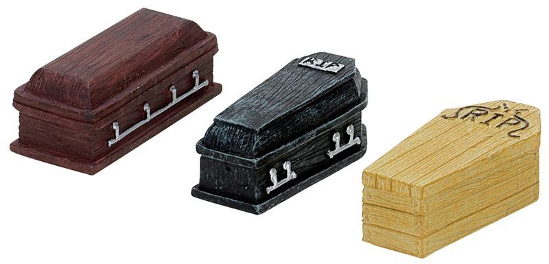 Coffins, Set Of 3 Lemax Village