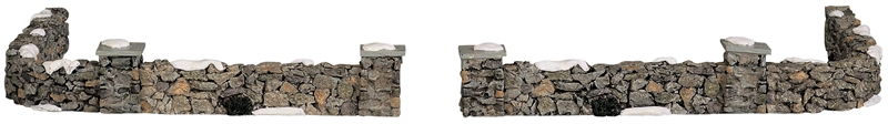 Colonial Stone Wall, Set Of 10 Lemax Village