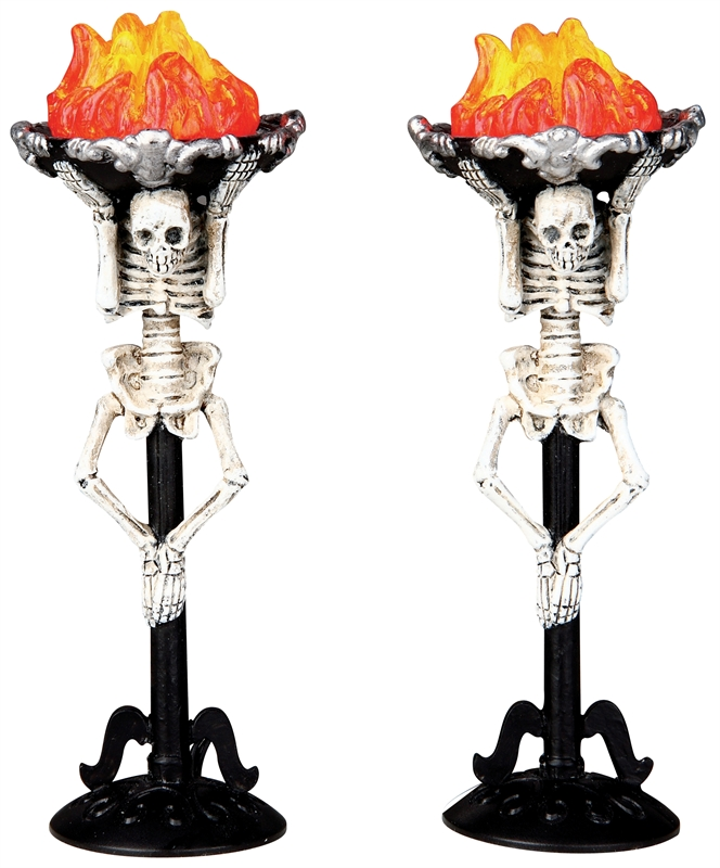 Corpse Torch, Set Of 2 Lemax Village