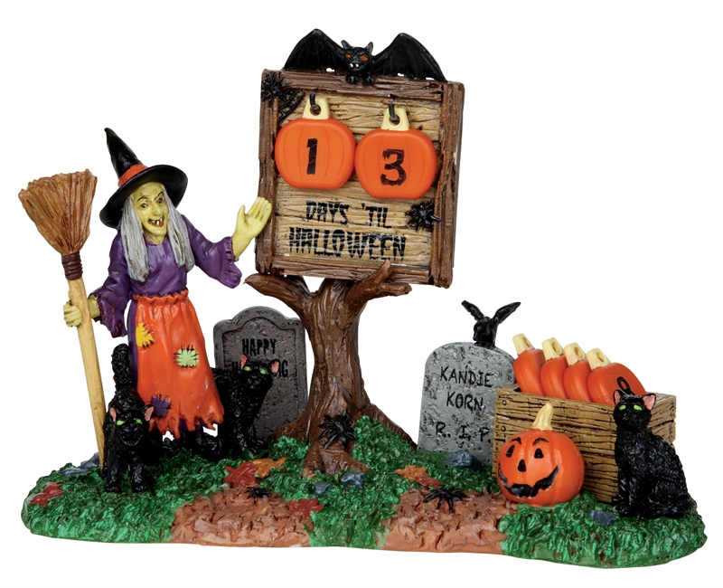 Countdown To Halloween, Set Of 7 Lemax Village