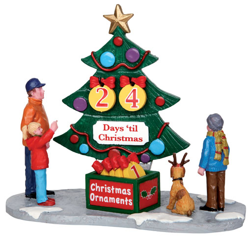 Countdown Tree  Set Of 7 Lemax Village