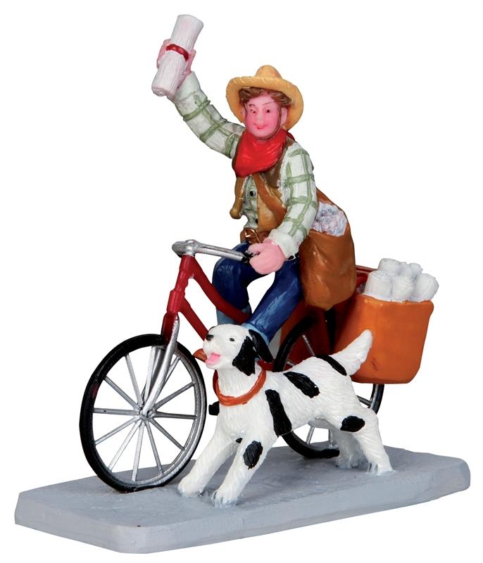 Cowboy Paperboy Lemax Village