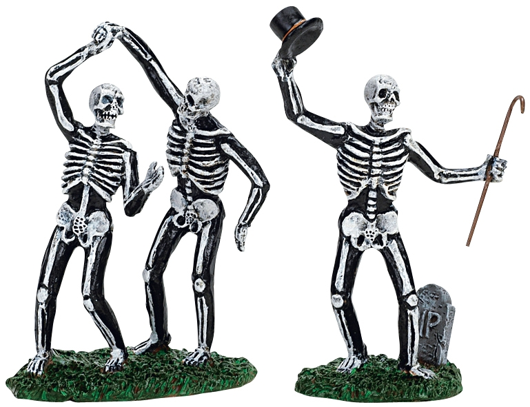 Dancing Skeletons, Set Of 2 Lemax Village