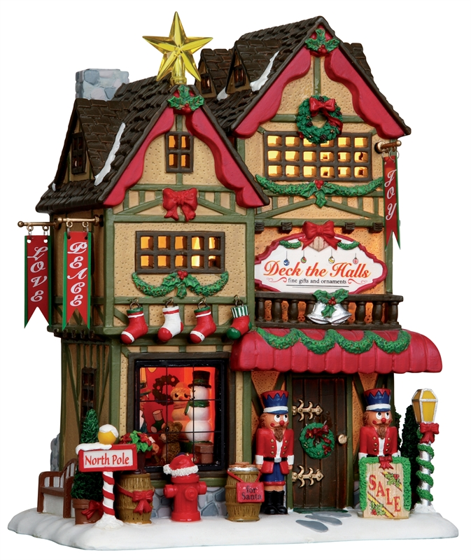 Deck The Halls Christmas Shop Lemax Village