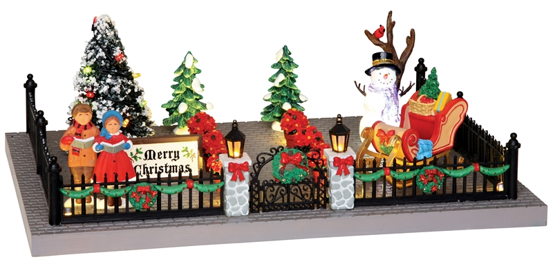 Decorated Victorian Front Yard Lemax Village