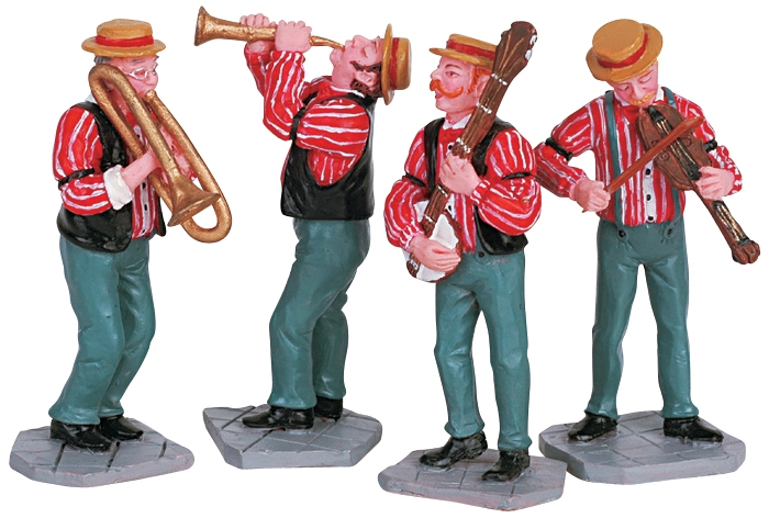 Dixieland Band, Set Of 4 Lemax Village