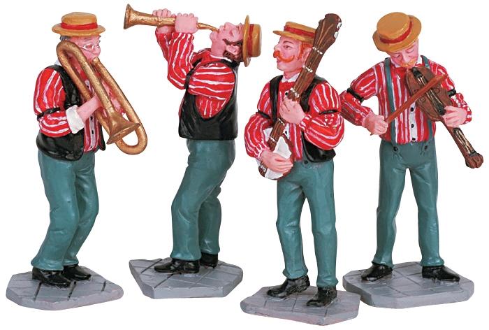 Dixieland Band, Set Of 4 Lemax Village