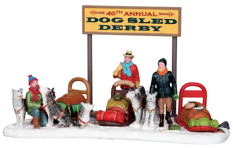 Dog Sled Derby Lemax Village
