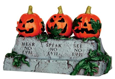 Evil Pumpkins Lemax Village