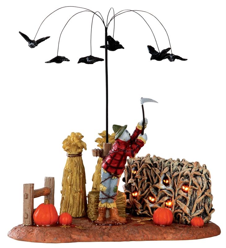 Evil Scarecrow Lemax Village