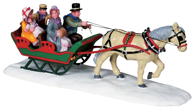 Family Sleigh Ride Lemax Village