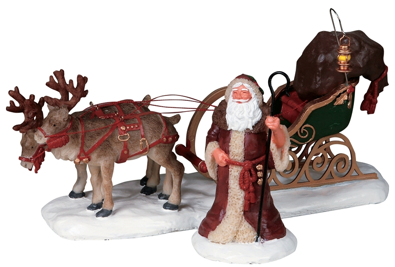 Father Christmas, Set Of 2 Lemax Village