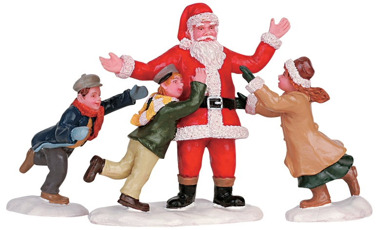 Father Christmas, Set Of 3 Lemax Village
