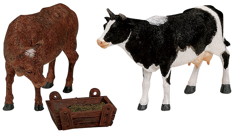 Feeding Cow & Bull, Set Of 3 Lemax Village