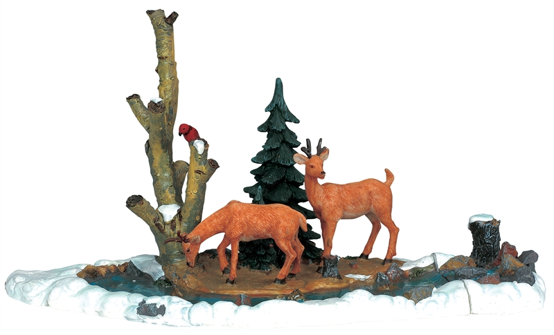 Feeding Deer, Set Of 3 Lemax Village