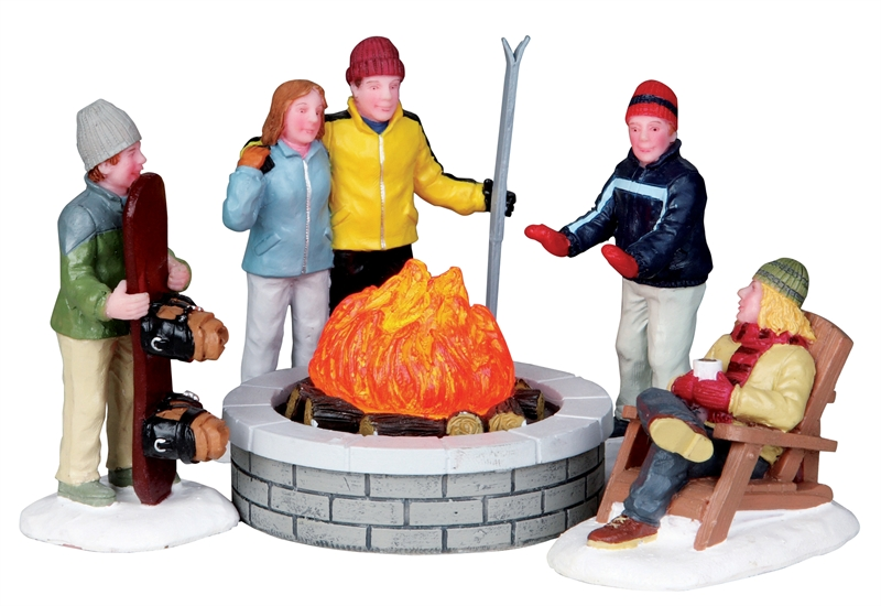Fire Pit, Set Of 5 Lemax Village