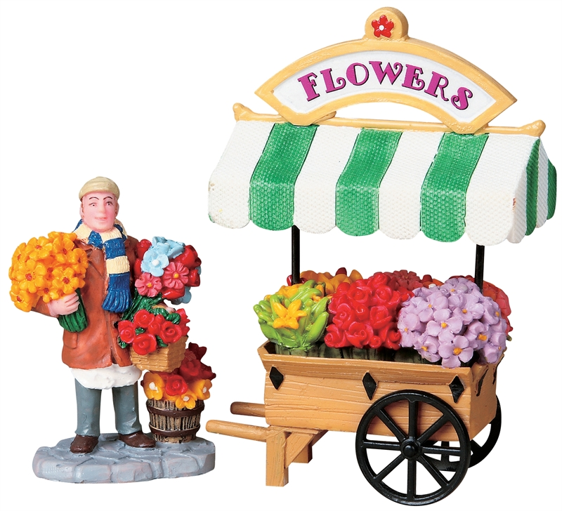 Flower Cart, Set Of 2 Lemax Village