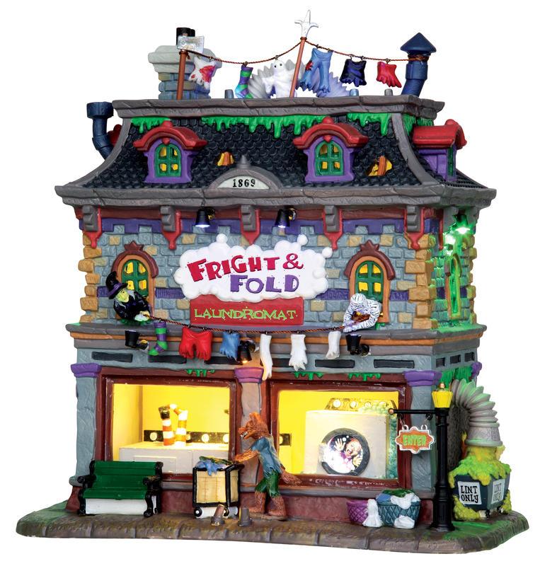 Fright & Fold Laundromat Lemax Village
